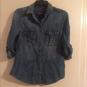 Express Button Up Denim Shirt